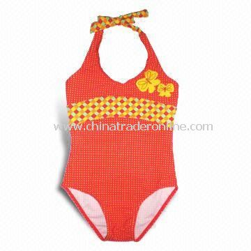 Childrens Swimwear with Embroidery, Customized Sizes are Welcome