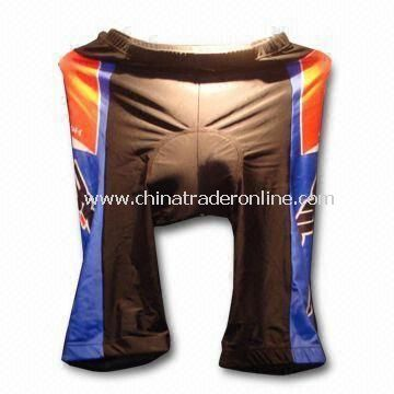 Cycling Short, Made of 82% Nylon and 18% Spandex, Available in Various Size and Color