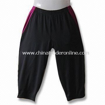 Mens Capris in Black with Wicking and Anti-microbial Features from China