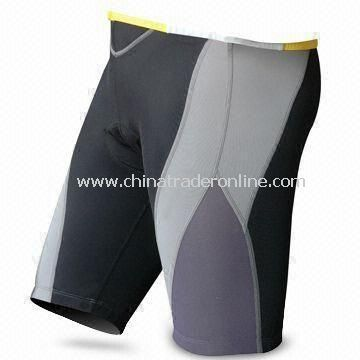 Mens Cycling Shorts with Silicone Gripper on Legs