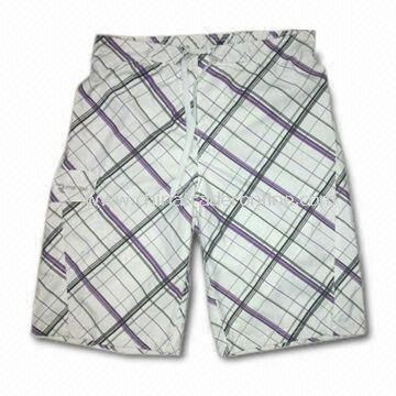 Mens Swimming Shorts with Mesh Lining, Made of Microfiber from China