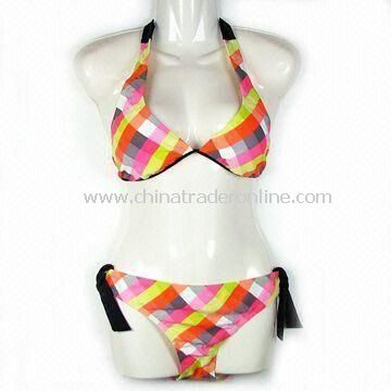 Sexy Bikini/Swimwear/Swimsuit, Made of 82% Nylon and 18% Spandex, OEM Orders are Accepted