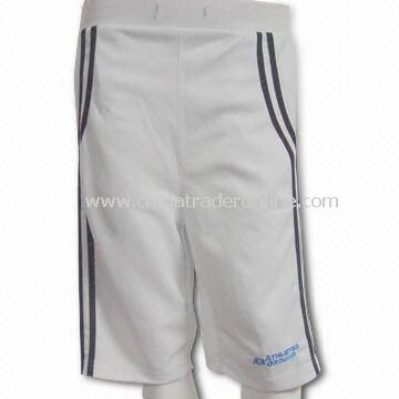 Shrink-resistant Long Sports Shorts, Made of Moisture Wicking Materials from China