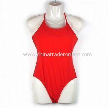 Womens Swimsuit with UV Protection, Made of Polyester and Spandex