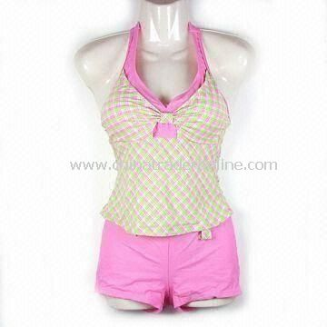 Womens Swimsuit with UV Protection, OEM Orders are Accepted, Made of Polyester and Spandex