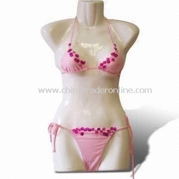 Bikini, Made of 80% Nylon and 20% Lycra, Suitable for Ladies Swimwear