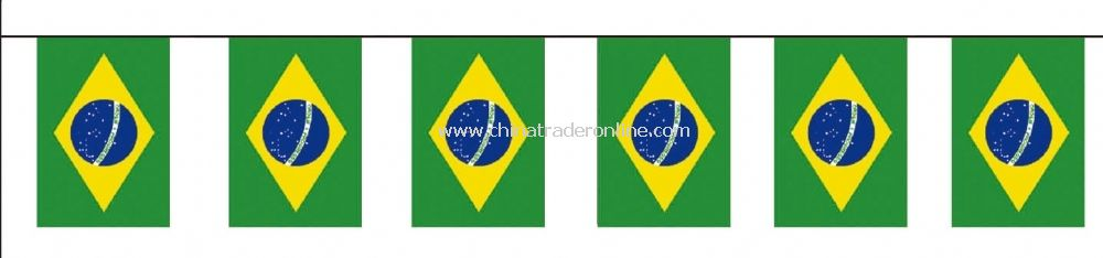 Brazil bunting flag from China