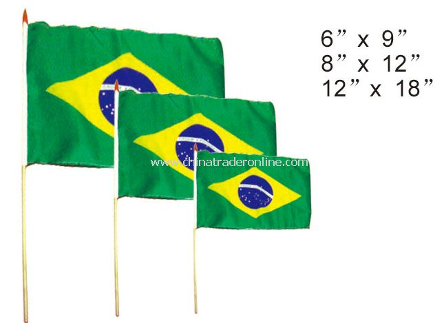 Brazil hand flag from China