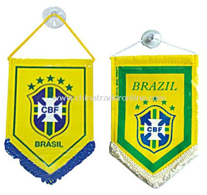 Brazil mini bauner flag