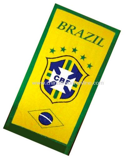 Brazil towel flag