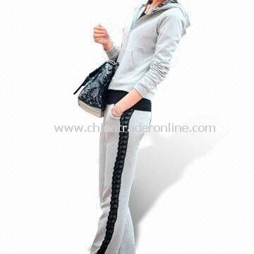 Fashion Ladies Training and Jogging Sports Suit, Customized Designs are Welcome
