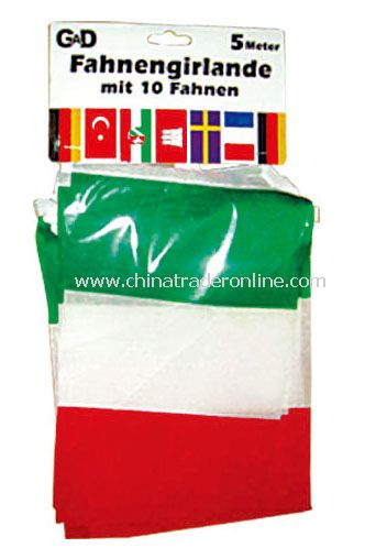 Italy bunting flag from China