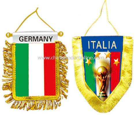 Italy mini banner flag