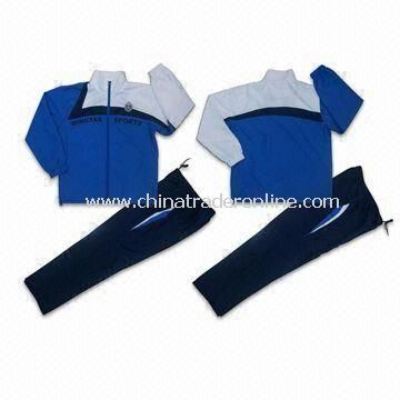 Ladies Jogging Suit/Tracksuits with Lining, Made of 100% Polyester Microfiber