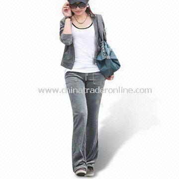 Ladies Training and Jogging Sport Velour Suit, Customized Designs are Welcome