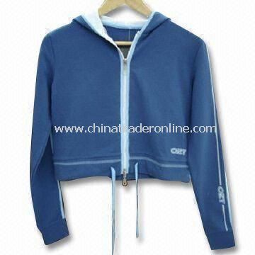 Ladies Jogging Suit, Made of 100% Cotton Spandex Loop Terry, Comfortable for Sportswear