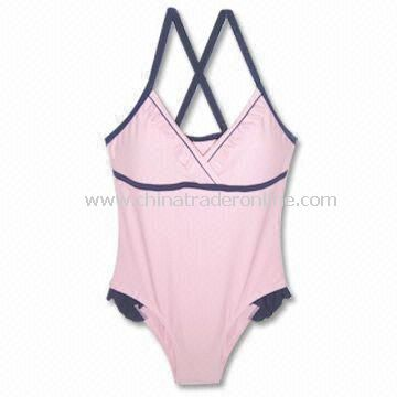 One-piece 82% Nylon and 18% Spandex Swimwear, Available in Pink