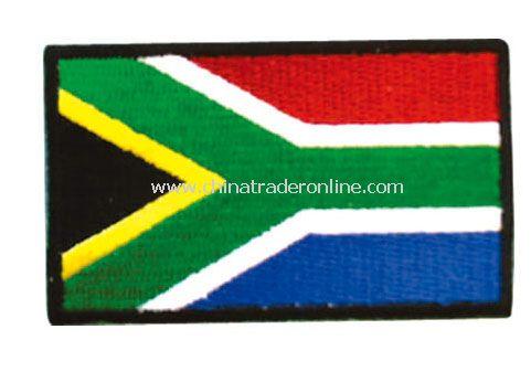 south africa emboridery banner flag