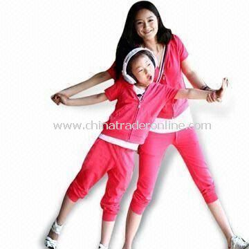 Sweat Suit, Suitable for Girls, Made of 100% Knitted Cotton
