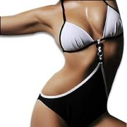 Swimwear, Made of Polyester and Spandex, Suitable for Women, OEM Orders are Welcome
