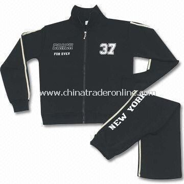 Womens Jogging Suit, Made of 35% Cotton and 65% Polyester