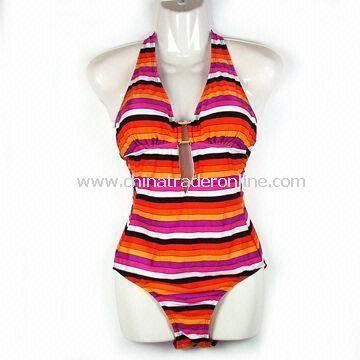 Womens Swimsuit with 100% Nylon Lining, Available in Black and Red, OEM Orders are Welcome