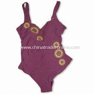 Womens Swimsuit with Printing, Made of 82% Nylon and 18% Spandex