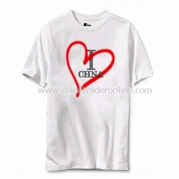 100% Cotton T-shirt, Available in Various Sizes, Suitable for Men from China