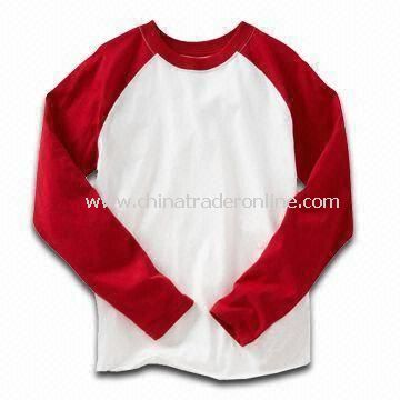 100% Cotton T-shirt for Children, Customized Designs, Fabrics, and Logos are Welcome