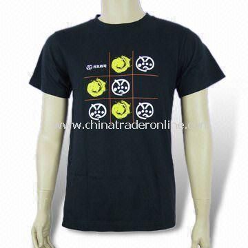 200gsm Mens T-shirt, Made of Cotton Material, Customized Logos are Accepted
