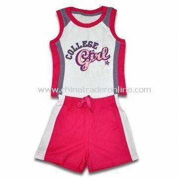 Childrens Sport Suits, Made of 100% Cotton Jersey 160gsm 30s Yarn