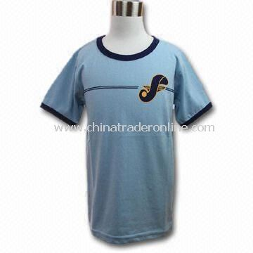Childrens T-shirt, Made of 100% Cotton, Various Sizes and Colors are Available