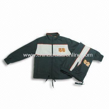 Childrens Training Suit with Polyester Microfiber Peach Finish