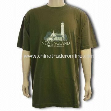 Cotton T-shirt, Customized Logo Welcomed from China