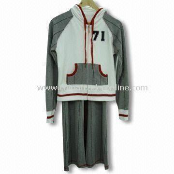 Ladies Jogging Sweatsuit, Comfortable for Sportswear