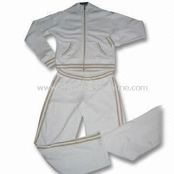 Ladies Jogging Sweatsuit, Various Sizes are Available, Comfortable for Sportswear