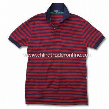 Mens Cotton T-shirt, Assorted Colors are Available from China