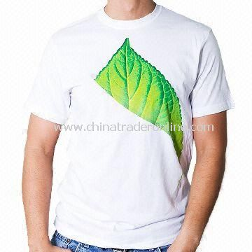 Mens Knitted T-shirt, Customized Logos are Accepted, Various Sizes, Colors and Styles are Available