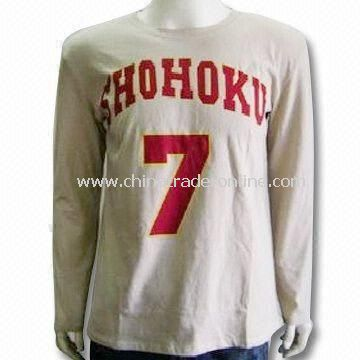 Mens Knitted T-shirt, Made of 100% Cotton, Customized Labels are Accepted from China
