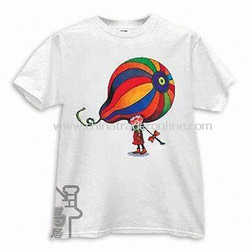 3e7c83af Mens Round Neck T-shirt, Made of 100% Cotton with Large Pigment Printing