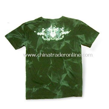 Mens Short Sleeves T-shirt with Tie Dye 2 Colors, Made of 100% Cotton