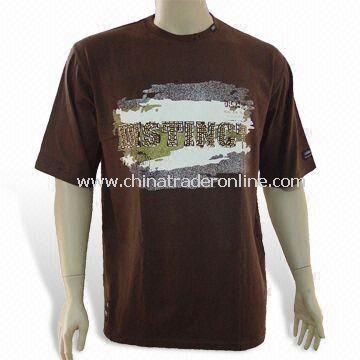 Mens T-shirt, Made of 100% Combed Cotton, Different Colors are Available from China