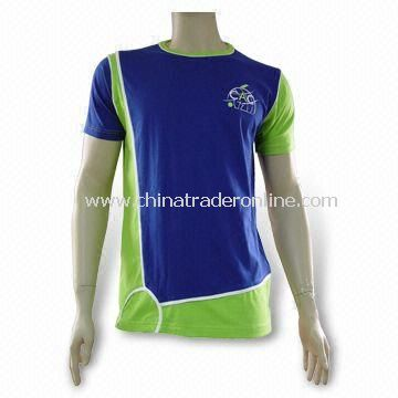 Mens T-shirt, Made of 100% Combed Cotton, Ideal for Promotional Purposes