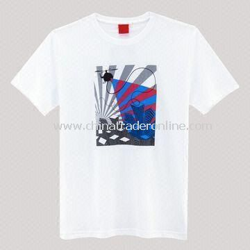 Mens T-shirt, Made of 100% Cotton Material, Suitable for Promotional Purposes from China