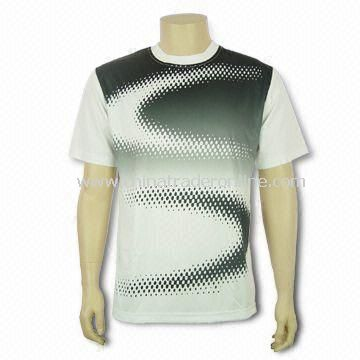 Mens T-shirt with Sublimation Printing, Made of 100% Polyester, Customized Logos are Welcome