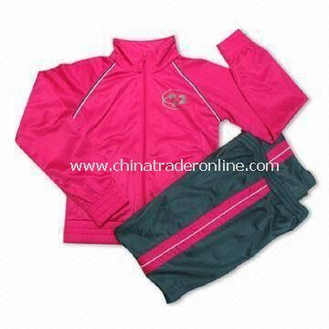 Polyester Tricot Jogging, Suit without Lining, Made of 100% Polyester Tricot Brush