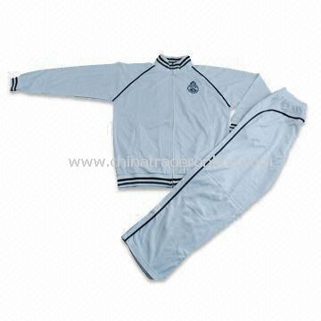 Training and Jogging Suit, Made of 100% Polyester Tricot, Customized Colors are Accepted