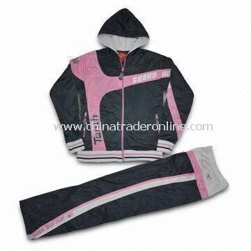 Womens Jogging Wear, Made of 100% Polyester Tricot, 210gsm