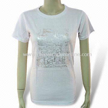 Womens T-shirt, Made of 100% Cotton