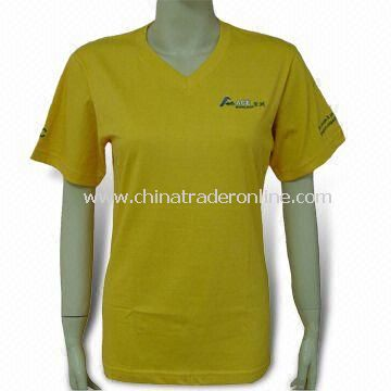 Womens T-shirt for Promotional Purposes, Made of Cotton